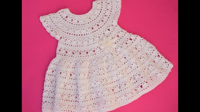 VERY EASY CROCHET DRESS WITH YOKE crochet dresscrochet