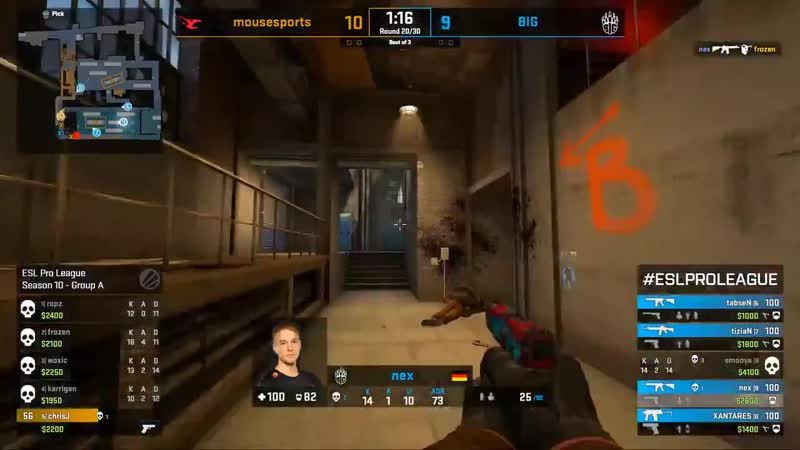 And the score is indeed equalized off the back of a crisp hold from @smooyacs! GOBIG ESLProLeague - -