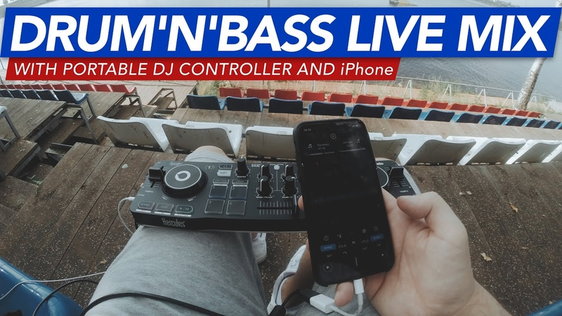 DRUM'N'BASS MIX 2020 with portable DJ controller and iPhone