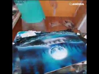 Как художник создаёт картину