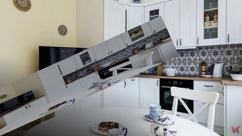 Дизайн интерьера кухни в стиле прованс площадью 12 кв.м для молодого человека
