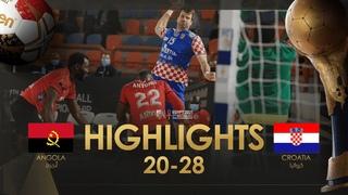 Highlights: Angola - Croatia | Group Stage | 27th IHF Men's Handball World Championship | Egypt2021