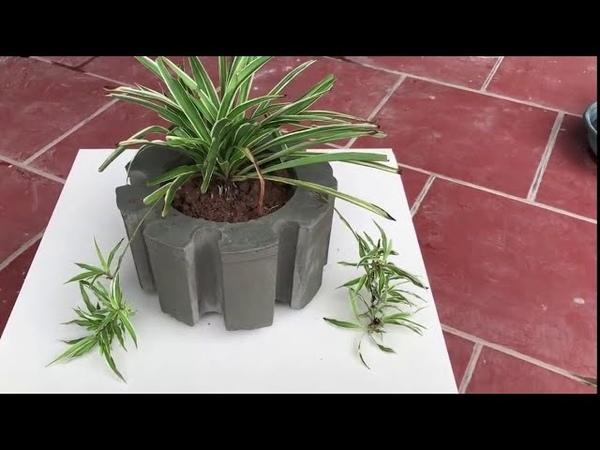Production of pots Using Plastic Boxes PVC Pipes and Cement Изготовление Цветочных Горшков