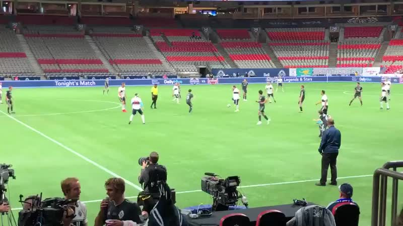 ⚽ Jensen scored a goal at Vancouver Whitecaps FC Charity game ⚽