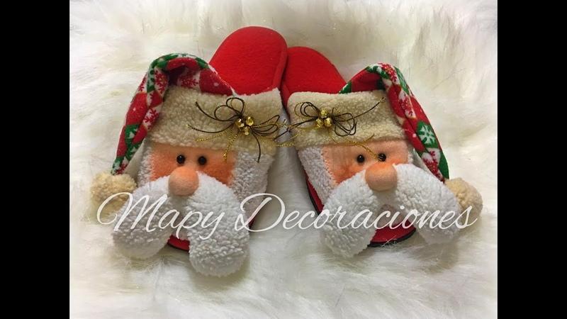 Pantuflas Navideñas Christmas slippers