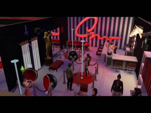 Sims 4 Симс 4 Стриптиз клуб в постапокалиптичном городе