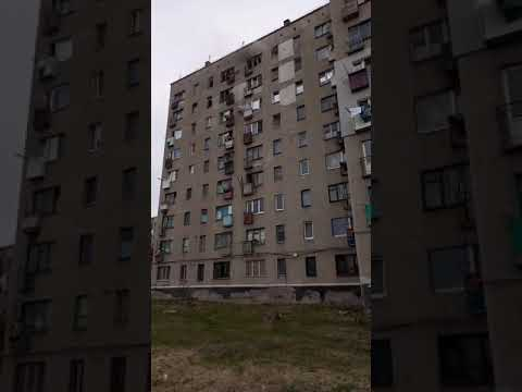 горит квартира 9 этаж ул Декабристов 45 г Бахмут Донецкая обл 27 07 2020