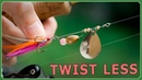 How to make a twist less spinner lures Single blade style 糸ヨレしにくいスピナールアーの作り方