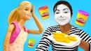 Плей До готовка с куклой Барби. Смешное видео для девочек.