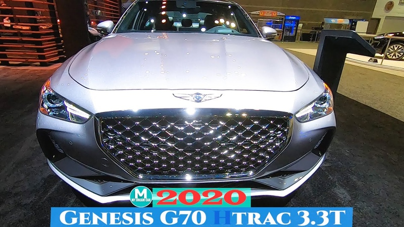 2020 Genesis G70 Htrac 3.3T Exterior and Interior Walkaround - Chicago Auto Show 2020
