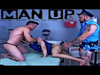 ManUpFilms — Twink Cop Mind Fuck — Daniel Hausser, Lance Hart & Sergeant Miles