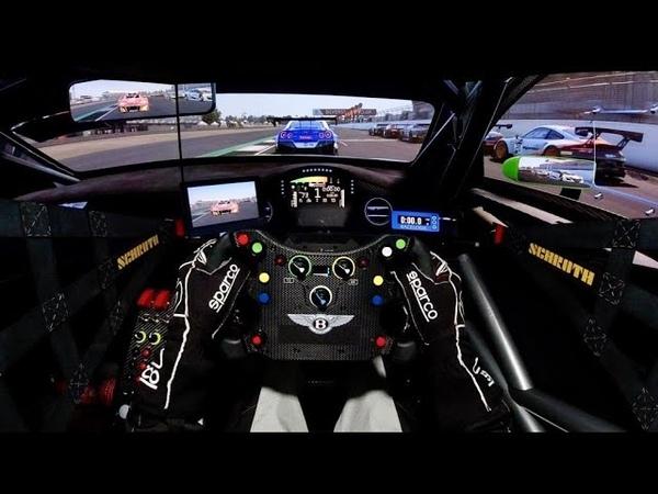 Assetto Corsa Competizione Bentley GT3 @ Silverston Triple Screen Onboard Fanatec Podium DD2