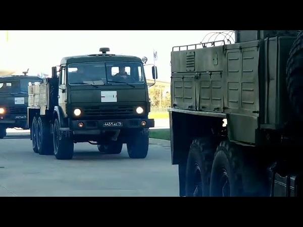 Бросок колонны армии России в итальянский Бергамо