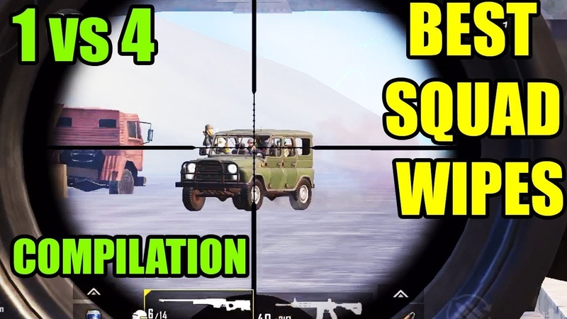 1 vs 4 BEST MOMENTS | CLUTCH | SQUAD KILLS MONTAGE | PUBG Mobile | 1000 SUBS SPECIAL ! =)
