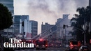 Los Angeles explosion: 11 firefighters injured in 'major emergency'