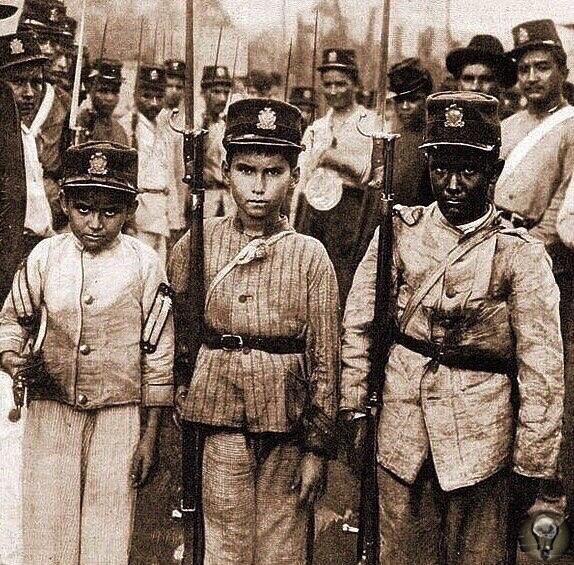 Солдаты армии Парагвая (конец 19 века