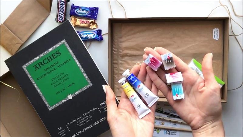 Анастасия Гудкова - обзор коробочки DoodleSketch Box (2018 февраль) - синичка