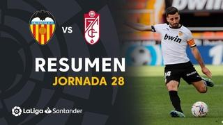 Resumen de VALENCIA CF vs Granada CF (2-1)