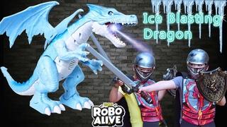 Protect Our Kingdom From The Ice Blasting Dragon! *NEW*ZURU Robo Alive Dragon