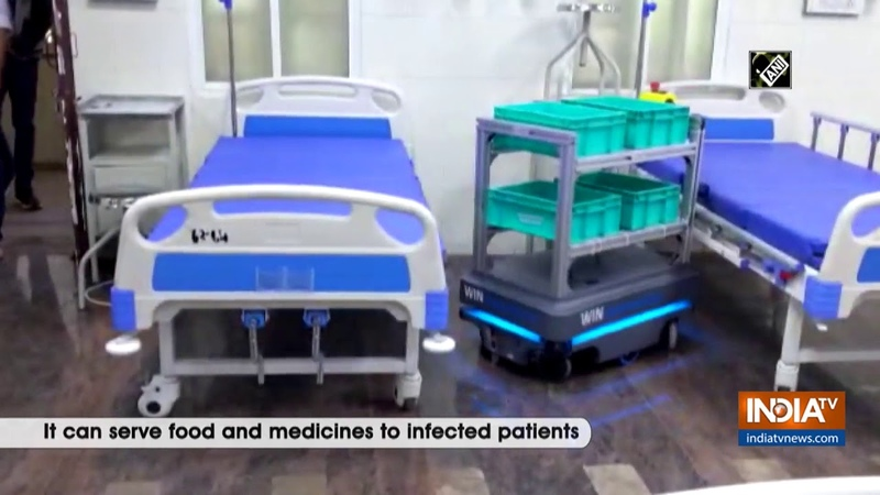 COVID 19 Automated trolley deployed in Bengaluru hospital to mitigate infection risks