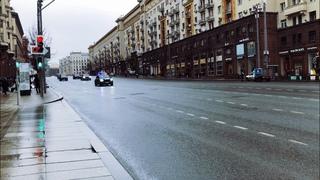 Кортеж АДОЛЬФА ГИТЛЕРА по закрытой Тверской в Москве