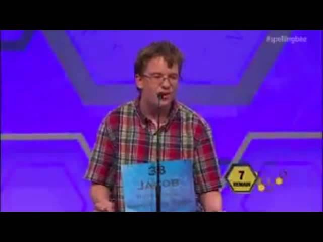 Kids Premature Reaction Celebration At Scripps National Spelling Bee 2014