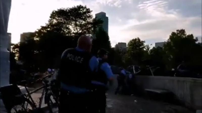 Сотрудники полиции американского Чикаго оказались бессильны перед сотнями протестующих
