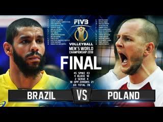 Final mens world championship 2018 brazil vs. poland