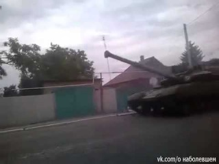 Енакиево, колонна террористов идёт на Донецк 15 07 2014