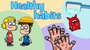 Healthy habits kids songs compilation Hooray Kids Songs Hacky Smacky - Wash us - Boo-boo Song