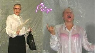 Paige gets a wet surprise