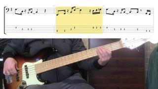 Jamiroquai - Cosmic Girl ( Bass Cover tabs in video )