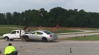 Crash test shows why you should never ride in the back of a pickup truck