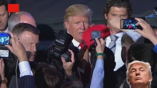 Охранник Дональда Трампа впечатляет своей сконцентрированостью. Агент секретной службы США.