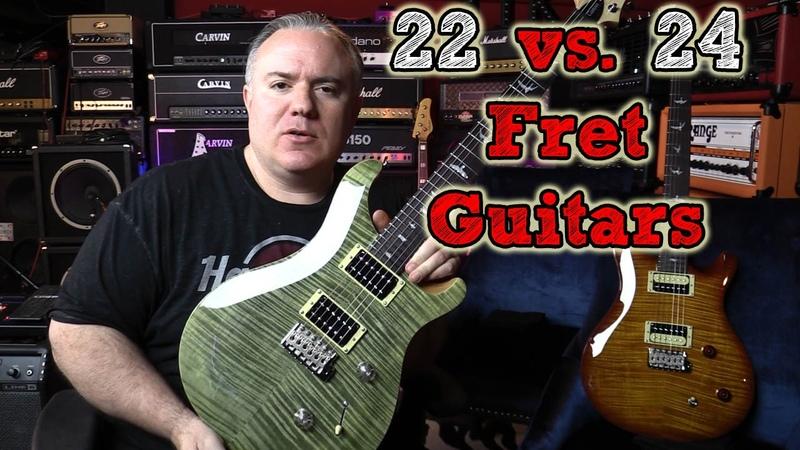 22 vs. 24 Fret Guitars - Mystery Solved - Using PRS SE Custom 22 24