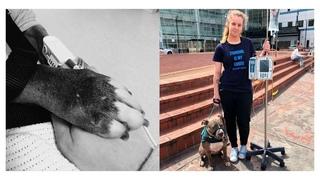 Служебная собака отказывается покидать маму, которой она спасла жизнь!