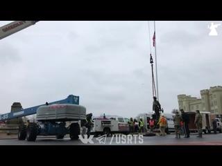 Демонтаж памятника генералу конфедератов в Вирджинии - Протесты в США - 07/12/2020