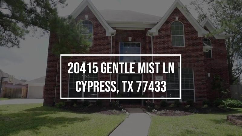 20415 Gentle Mist Ln Cypress, TX 77433 VO