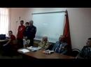 глава Боевого Братства СВВАУЛ поздравляет ветерана ВОВ на встрече со школьниками в лицее г.Сызрани 04.12.2020г.