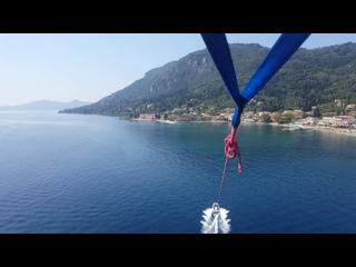 Полет на парашюте над Ионическим морем. Остров Корфу 2016г. Корфу 2016г.0160728_113307