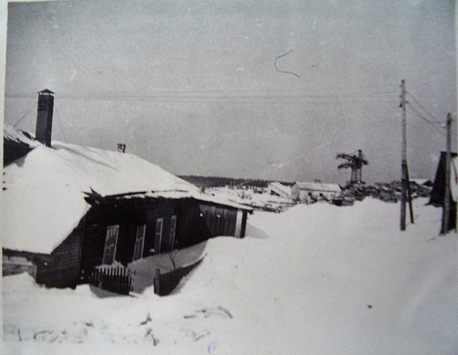 Фото 1970-ых годов, старая столовая Коношского лесозавода