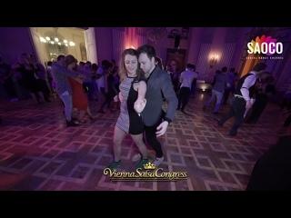 Patrick Steindl and Laura An Salsa Dancing at Vienna Salsa Congress 2019, Friday