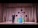 Дновский РКЦ. Сцена из оперетты Баядера в исполнении Е.Афоненковой и В.Капула.