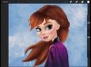 Рисую Анну из холодного сердца