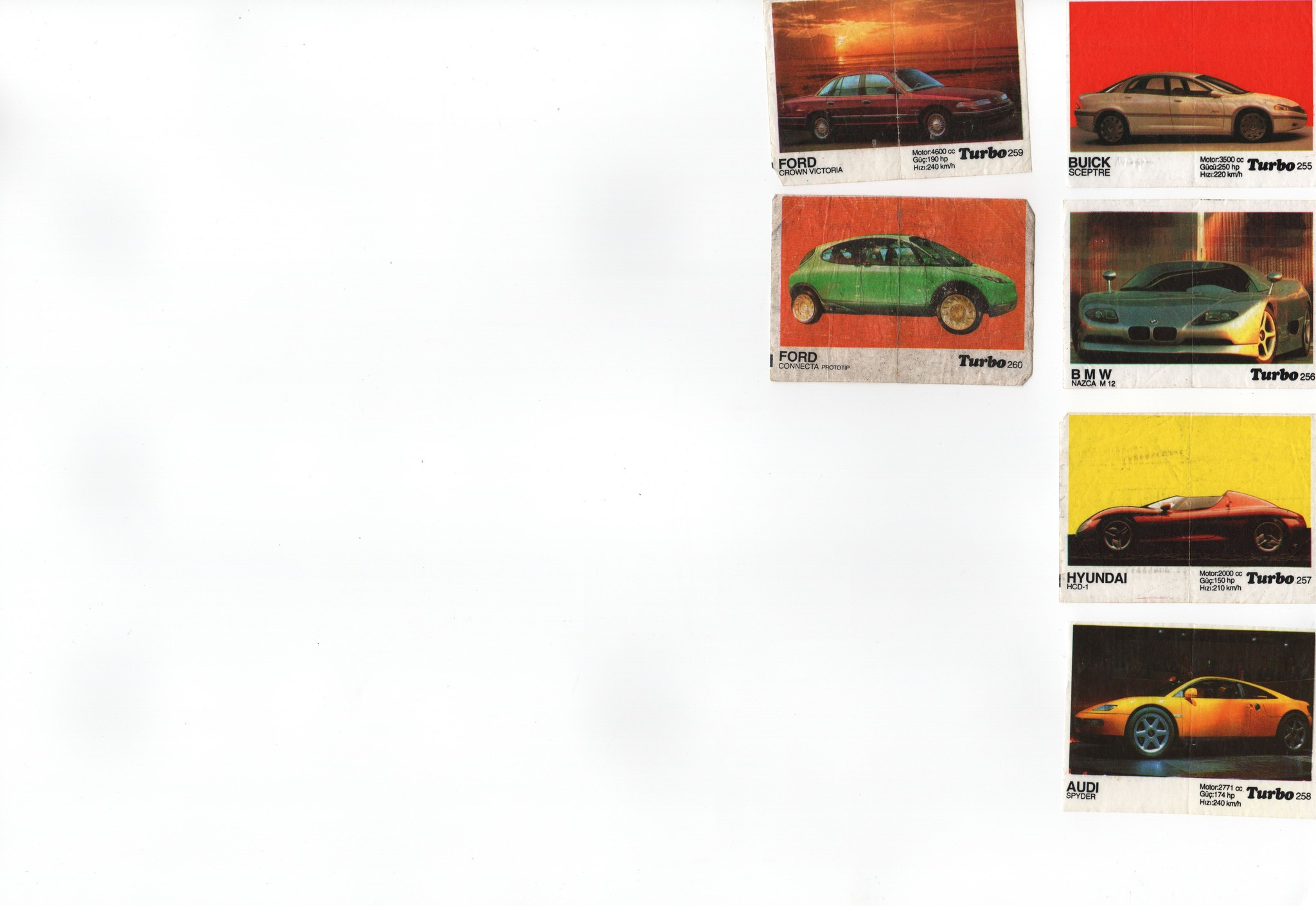 (почти) Полная коллекция оригинальных вкладышей TURBO
