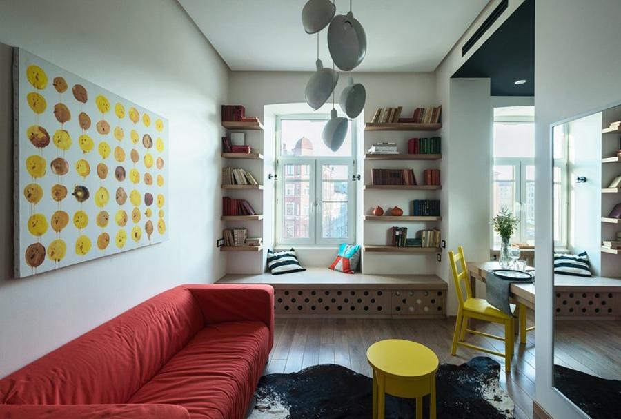 Дизайн квартиры 40 м в Санкт-Петербурге.