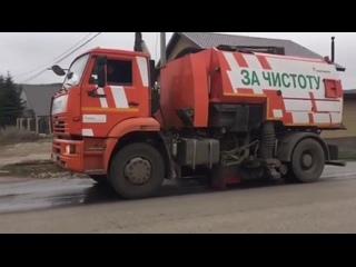На улицах Бавлов проходит мойка и дезинфекция дорог