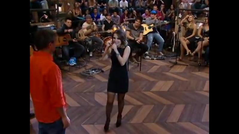 Altas Horas Sandy atende aos pedidos da plateia e canta Sozinho 12 Mai 2012