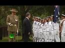 Пьяный Порошенко кланяется почетному караулу в Австралии!
