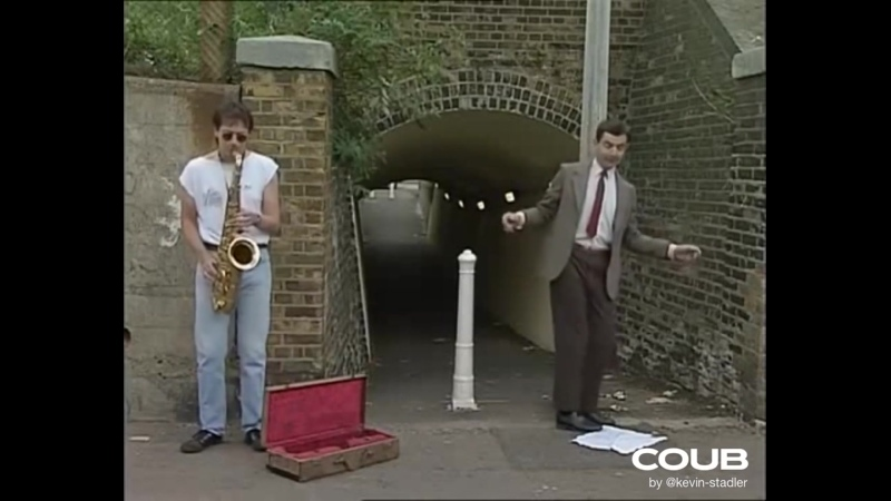 Mr Bean and the sax guy